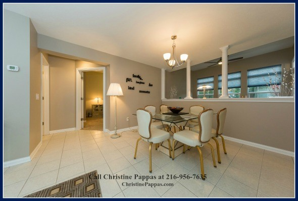 Dine in style by filling the dining area of Northeast OH condo with exquisite dining room furniture.