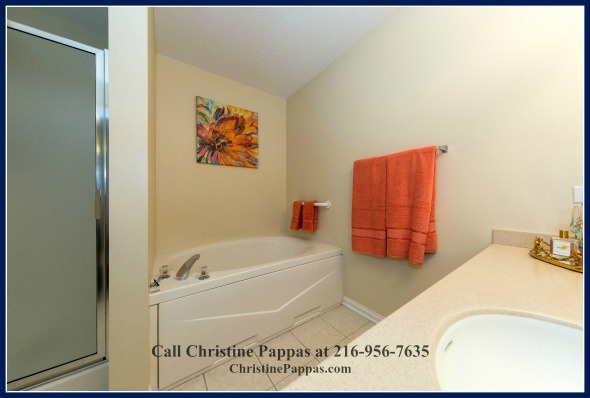 Get rid of all that work day stress by soaking into the beautiful tub of the remodeled bathroom in this Highland Heights condo.