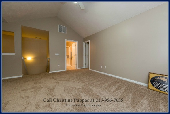 The fully-carpeted loft of this Northeast OH real estate is an added room which you can fill with furniture that fits your style and needs.