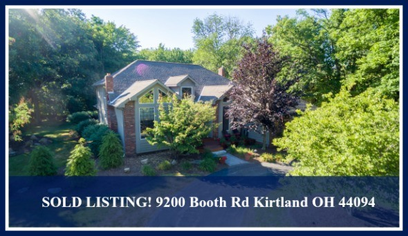 This recently sold Cape Cod style home in Kirtland OH offers privacy and tranquility like no other!